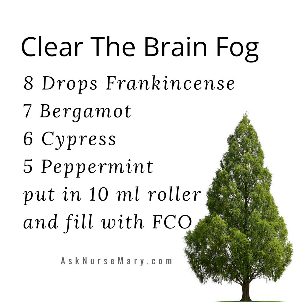 Powerful Essential Oils to clear brain fog and allow for clearer thoughts.