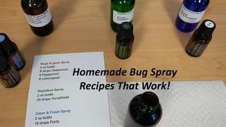 Bugs Spray Recipes